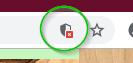 Chrome Unsecure Icon